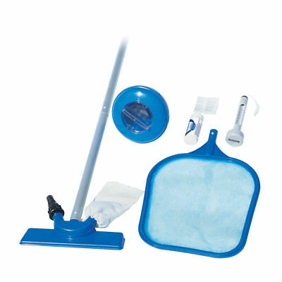 Bestway Swimming Pool Cleaner Set Vacuum Maintenance Kit/Floater/Thermometer New