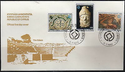 Cyprus - #581-83(3) -  FDC