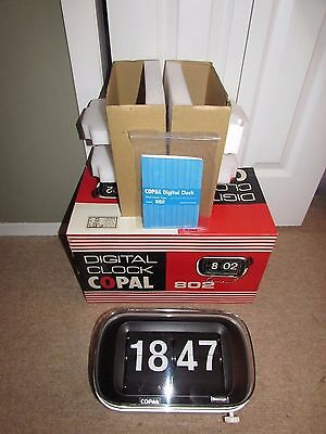 Vintage Copal Digital Clock 802 Brand New In Box Working Japan Off White