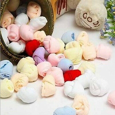 5 Pairs/lot Colorful Newborn Baby Boys Girls Soft Solid Socks Candy Color