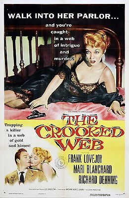 The Crooked Web Movie POSTER (1955) Drama/Crime