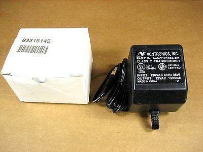 Ventronics A48W121333-0/1  Output 12VAC 1333mA  Adapter Power Supply,  NEW