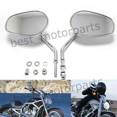 Motorcycle Rear View Mirrors For Harley Davidson Heritage Softail Classic Flstc