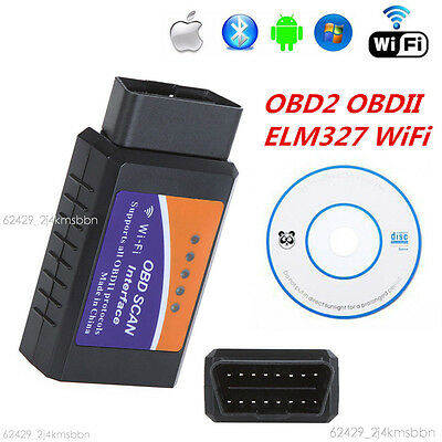 Auto Car Diagnostic Scanner Scan Tool ELM327 WIFI OBD2 OBDII For iPhone Android