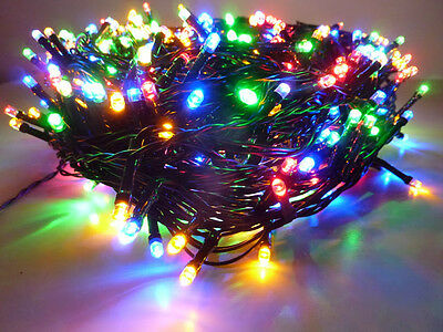 52.9M 500Led Multicolor Chasing Christmas Fairy Lights With 8 Functions