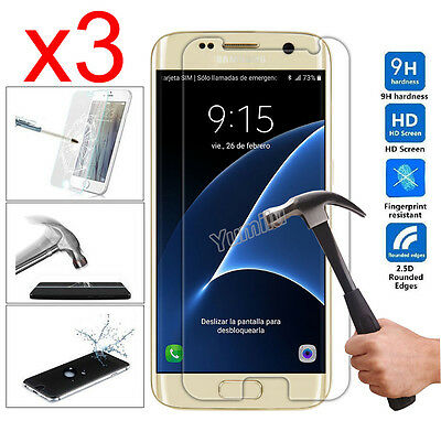 3 New Premium Real Tempered Glass Film Screen Protector Guard for Samsung Galaxy