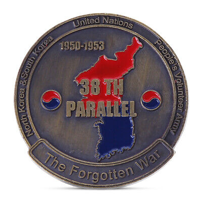 Korean War 38th Parallel Commemorative Coins Military Challenge Art Collection