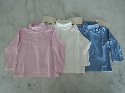Armani Baby Long Sleeve Shirt NEW 6M, 9M, 12M, 18M Blue, Pink & White