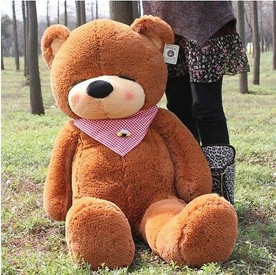 1.6m Tall Giant Lovely Teddy Bear Stuffed Plush Doll Birthday Xmas Gift Brown