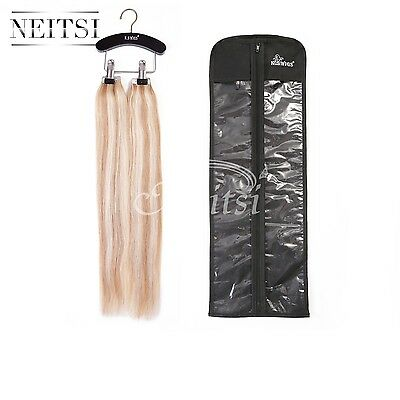 Dustproof Wig /Hair Extensions Cover Bags Case  with 1pcs Wooden Hanger