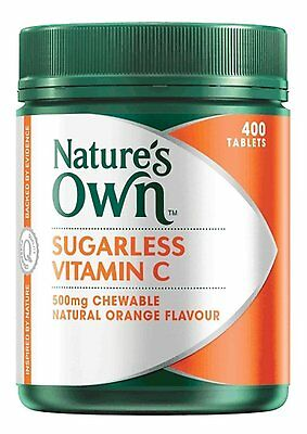 Nature's Own Sugarless Vitamin C 500Mg, 400 Chewable Tablets Natural Orange Flav