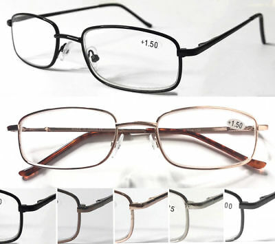 L89 Superb Metal Reading Glasses/Spring Hinges/Classic Style & Square Frame