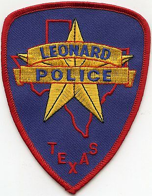 Leonard Texas Tx Police Patch