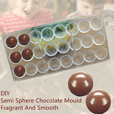 24 Semi Sphere Shaped Chocolate Mould PC Candy Pudding Mold Clear Polycarbonate