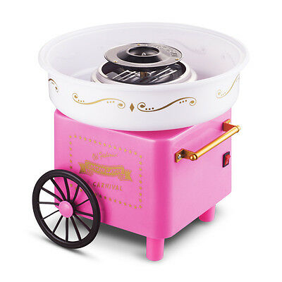 110V/220V Cotton Candy Maker Machine Vintage Retro Carnival Kids Hard Sugar