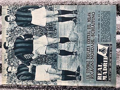 1956 Real Madrid Revista European Cup Semi Final Ac Milan Italy