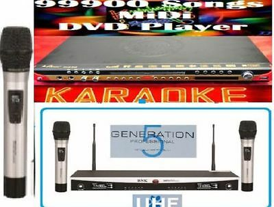 New 99900 English Tagalog Songs MIDI karaoke DVD player+ UHFwireless microphone