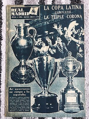 1957 Real Madrid Revista July 1957 Latin Cup Benfica / European Final / Treble