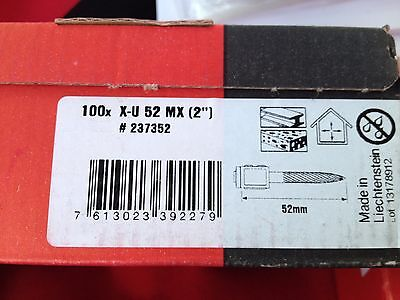 "Hilti X-U 52 MX 2"" magazine strip-box of 100"