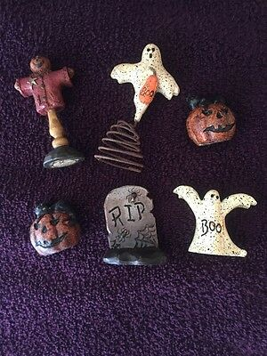 *12* SALEM COLLECTION Mini Halloween Assorted Figurines 2 Sets Of 6 Rare New