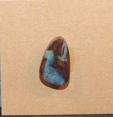Boulder Opal top drilled 11x18mm with 5mm dome from Australia  (11102)