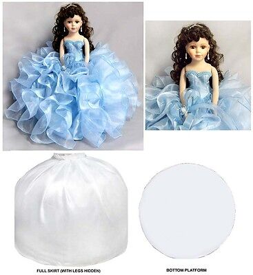 """16"""" Princess  Quinceanera - Sweet 16  Porcelain Dolls - Baby Blue (EQacDoll)"""