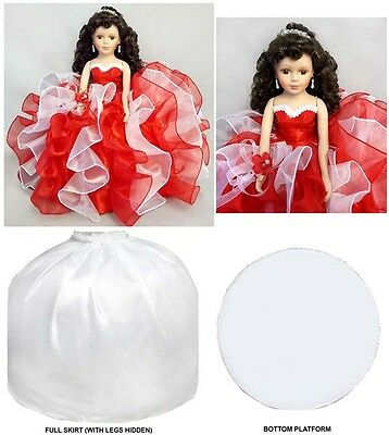 "16"" Princess Quinceanera  Sweet 16 - Porcelain Dolls: Red & White ( EQacDoll)"