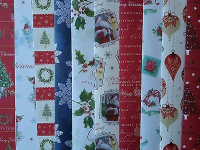 10 - 50 Sheets Of Good Quality Assorted Traditional Christmas Wrapping Paper