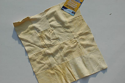 Genuine Stitched Natural Leather Chamois Cloth 30cm x 30cm