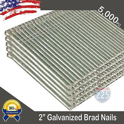 "2"" Inch Length 16 Gauge Chisel Point Galvanized Finish Brad Nails 5,000 Count US"