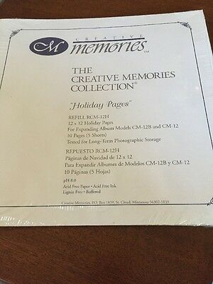 NIP Creative Memories Holiday Pages  RCM-12H 10 Pages (5 sheets)  FREE SHIP