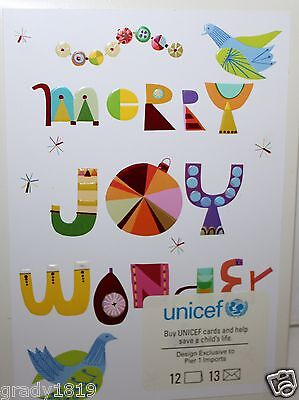 Unicef Christmas Cards.Pier 1 Imports Nib Unicef Christmas Cards Merry Joy Wonder Box Of 12