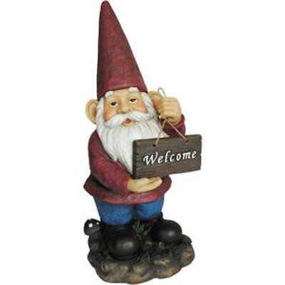 Giant Welcome Gnome Statue Indoor Outdoor Garden 1014707