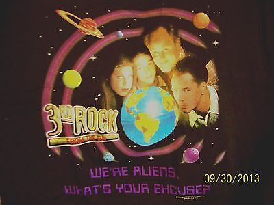 3rd ROCK from Sun WE are ALIENS WHAT's YOUR EXCUSE Long Sleave BLACK Sweat Shirt