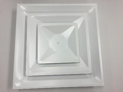 """TruAire 2003CD 24""""x24"""" suspended ceiling Diffuser with 10"""" round connection"""