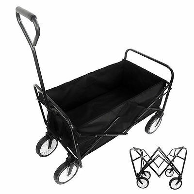 Folding Collapsible Utility Wagon Garden Cart Shopping Buggy Yard