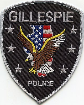 GILLESPIE ILLINOIS IL state outline POLICE PATCH