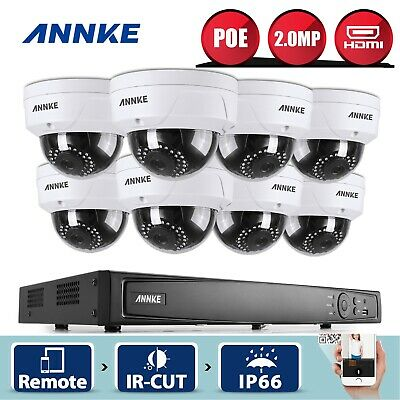 ANNKE 8CH 1080P Network POE 5MP NVR 2MP Video Security Camera System Digital WDR