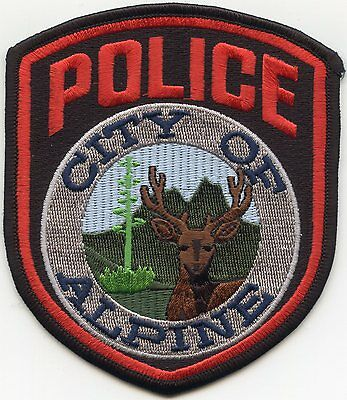 Alpine Texas Tx Police Patch