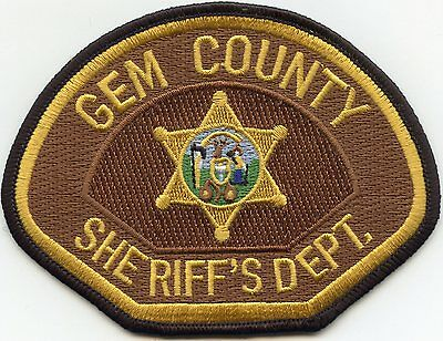 Gem County Idaho Id Sheriff Police Patch