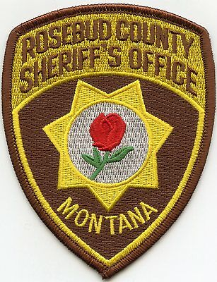 ROSEBUD COUNTY MONTANA MT red rose SHERIFF POLICE PATCH