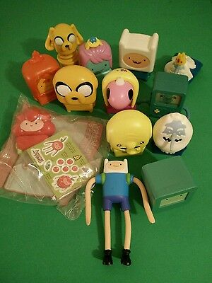 "assorted mcdonalds happy meal toys ""adventure time"" 13 pcs"