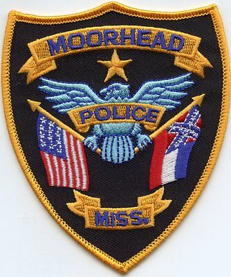 MOORHEAD MISSISSIPPI MS state flag POLICE PATCH