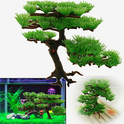 Arbre en plastique artificiel plante d'aquarium décoration d'ornement 1pc