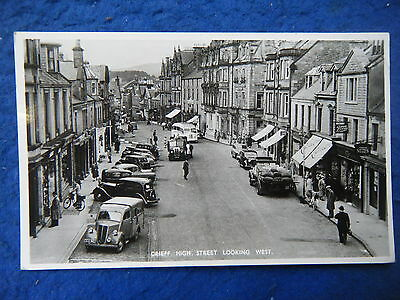 Crieff: High Street, Looking West - Scarce Real Photo Postcard!