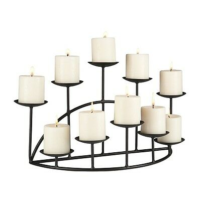 Sweet FanMuLin Iron Candle Holders for Fireplace Candelabra Flameless or Wax Pillar Decoration on Coffee Desk//Floor Black M Candle Holders Decor for Table