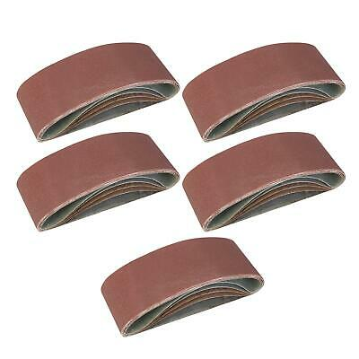 5 x Mixed Power Tool Sander Sanding Belt Belts 75mm x 457mm 40 60 80 120 Grit
