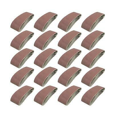 20 75mm x 533mm Sanding Belts 40 Grit Coarse Power Electric Belt Sander 75 x 533