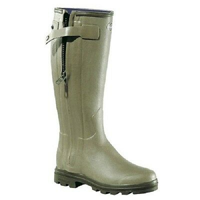 Le Chameau Chasseur Neo Wellingtons Neoprene Wellies with Full Zip FREE Boot Bag