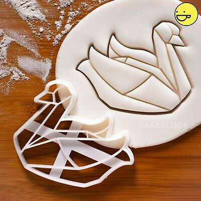 Origami Swan cookie cutter | geese goose duck ugly ducklings love swans biscuit
